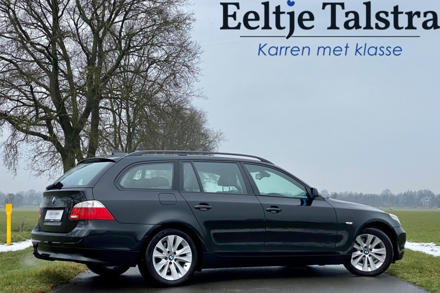 BMW 525i touring, sportzetels, navi, trekhaak incl. BTW