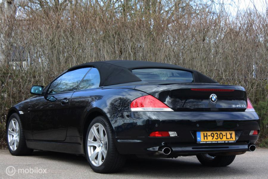 Youngtimer BMW 645ci V8 cabrio SMG   topstaat   sportstoelen