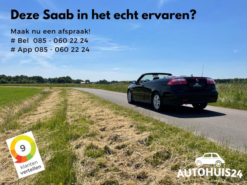 Saab 9-3 Cabrio 1.8t Linear (bj2005) #78dkm! #Leder #Cruise
