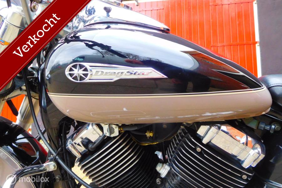 Mooie Yamaha XVS 650 A Drag Star Classic met lage KM stand