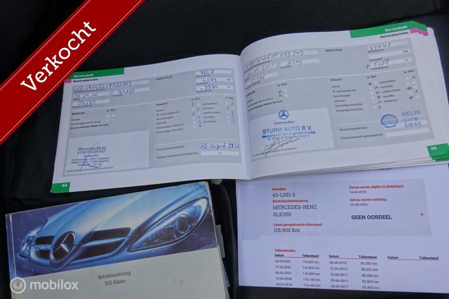 Mercedes SLK-klasse 350 Luxury V6  Automaat  115.926 km !!!!