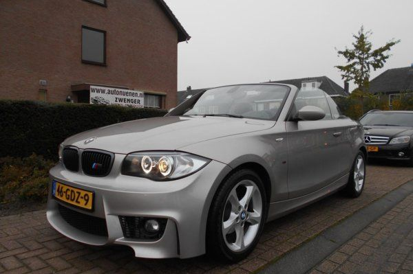 BMW 1-serie Cabrio 118i M-SPORT|ANGEL-EYES|LEER|PARKEERSENSORS|AIRCO|CRUISE-CONTROL|NL-AUTO|PRACHTIGE-STAAT|C