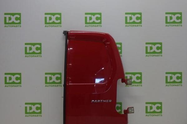 Peugeot Partner ('08-'19)Achterdeur rechtsdicht rood