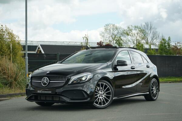 Mercedes A-klasse 220 AMG 4MATIC White Art Edition Distronic|Camera|Stoelverwarming|Dodehoek assist