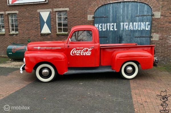 Ford USA f1 pick-up flathead v8 ratrot coca-cola truck 1952