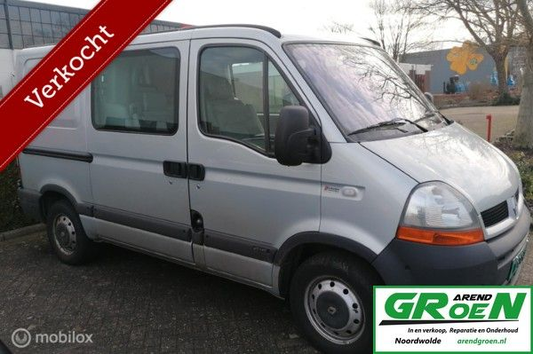 Renault Master dubbel cabb. met 3.0 L cruise,airco