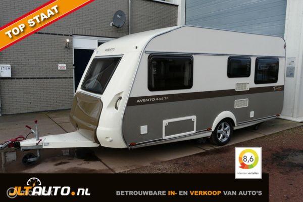 1e eign. Avento AT 445 TF Toerstiek Comfort + v-tent + mover