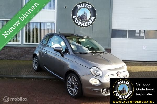 Fiat 500 1.2 Lounge, Airco/clima, navi, panodak, nw staat