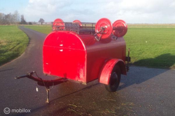 Oldtimer 1940 Brandweer klassieker aanhanger aanhangwagen