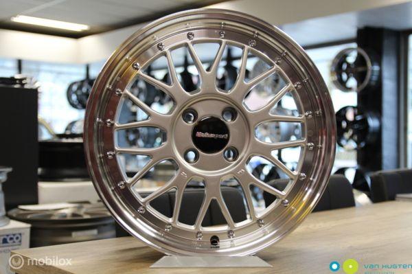 Retro velgenset KR 307 Silver - 7X16 - 4X100 - ET25