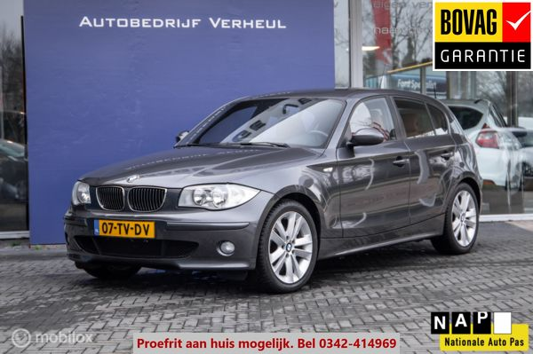 BMW 1-serie 120i High Executive Navi Leder Dealerauto Boekjes Nap