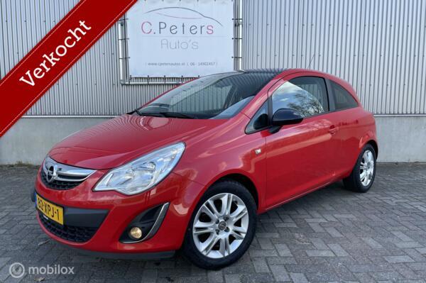 Opel Corsa VERKOCHT 1.2 EcoFlex Color Edition LPG 2012 / LPG G3 / Airco / Cruisecontrol / 2e eigenaar / 4seizoensbanden