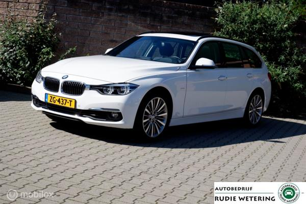 BMW 3-serie Touring 320i 184PK Automaat Luxury Line Panorama/led/leer/trekhaak/lmv18