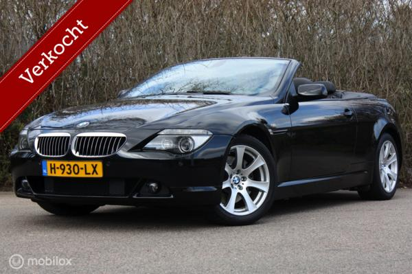Youngtimer BMW 645ci V8 cabrio SMG | topstaat | sportstoelen