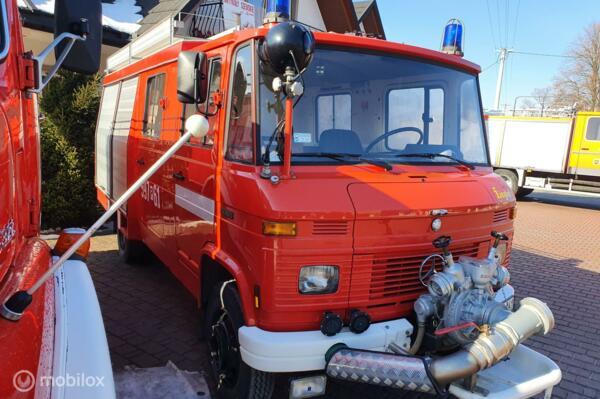 Verkocht Schitterende Mercedes 608 D brandweer camper