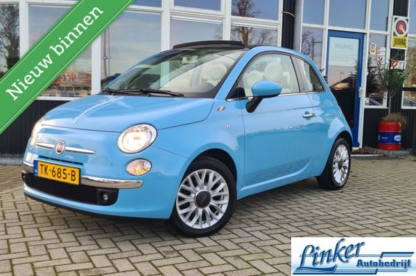 Fiat 500 0.9 TwinAir Turbo Lounge Cabrio Automaat-PDC-AIRCO