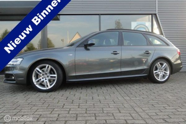 Audi A4 Avant - 2.0 TDI S Edition optic-black stoel verm MMI Xenon Led 177pk