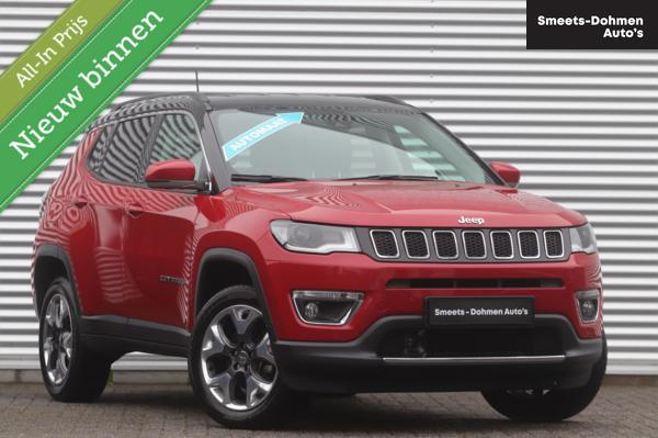Jeep Compass 1.4T 170PK Limited 4x4 Automaat   ZONDAGS OPEN!