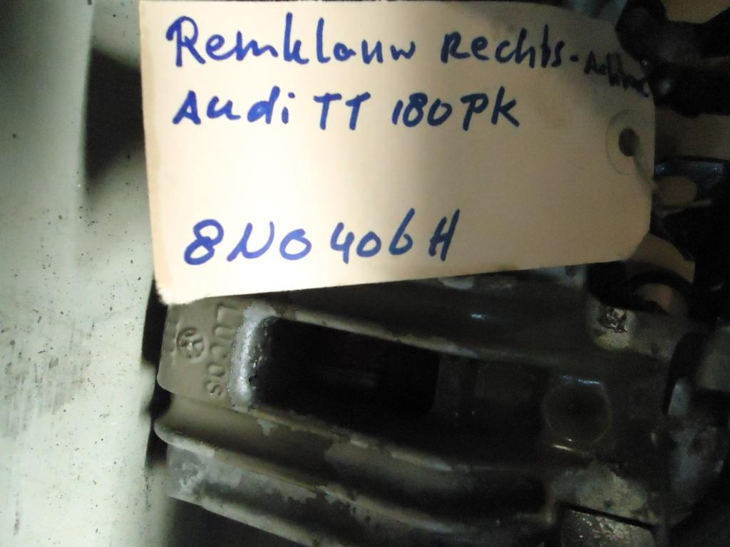 Remklauw Rechtsachter Audi TT 180pk 8N0406H