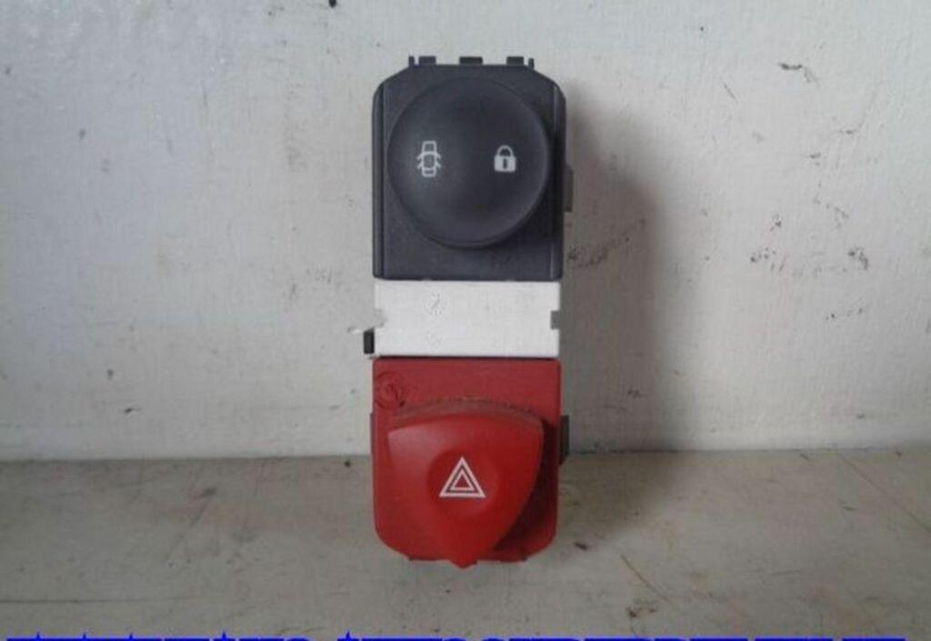 Alarmlichtschakelaar Grijs Renault Grand Scénic II 1.6-16V Privilège Comfort 8200095493