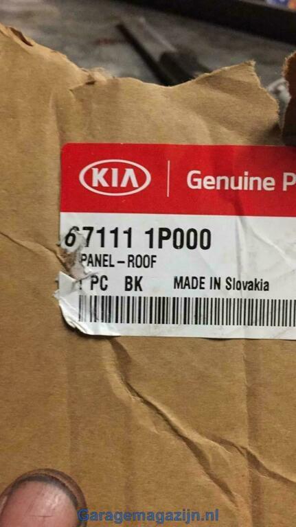 Dakplaat Kia Venga 2011 - 2013 Kia 67111-1p000