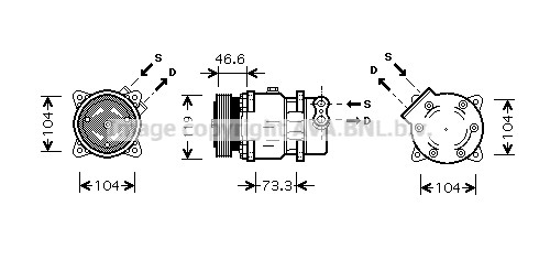 CompressorCNK218 6453FR