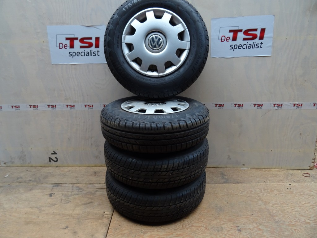 Velgenset Staal + Band1J0601027J 175-80-14 5X100