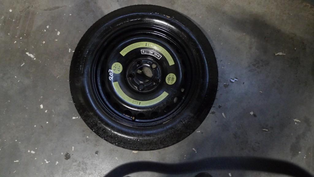 Thuisbrenger Mercedes 203/209 reservewiel 203 3,5x16 ET17 met band 125/90R16