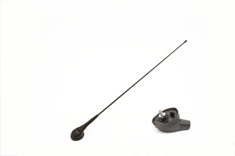 UNIVERSAL FRONT ROOF ANTENNA LONG VERSION (84 cm) Ø8mm WITH CABLE