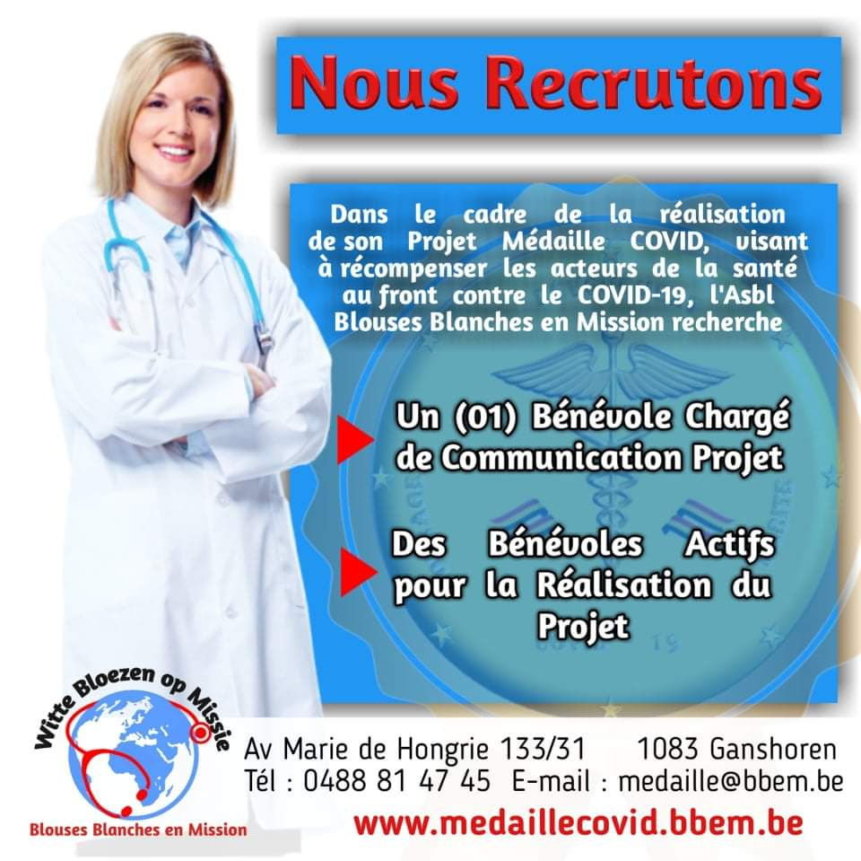 RECRUTEMENT BENEVOLES