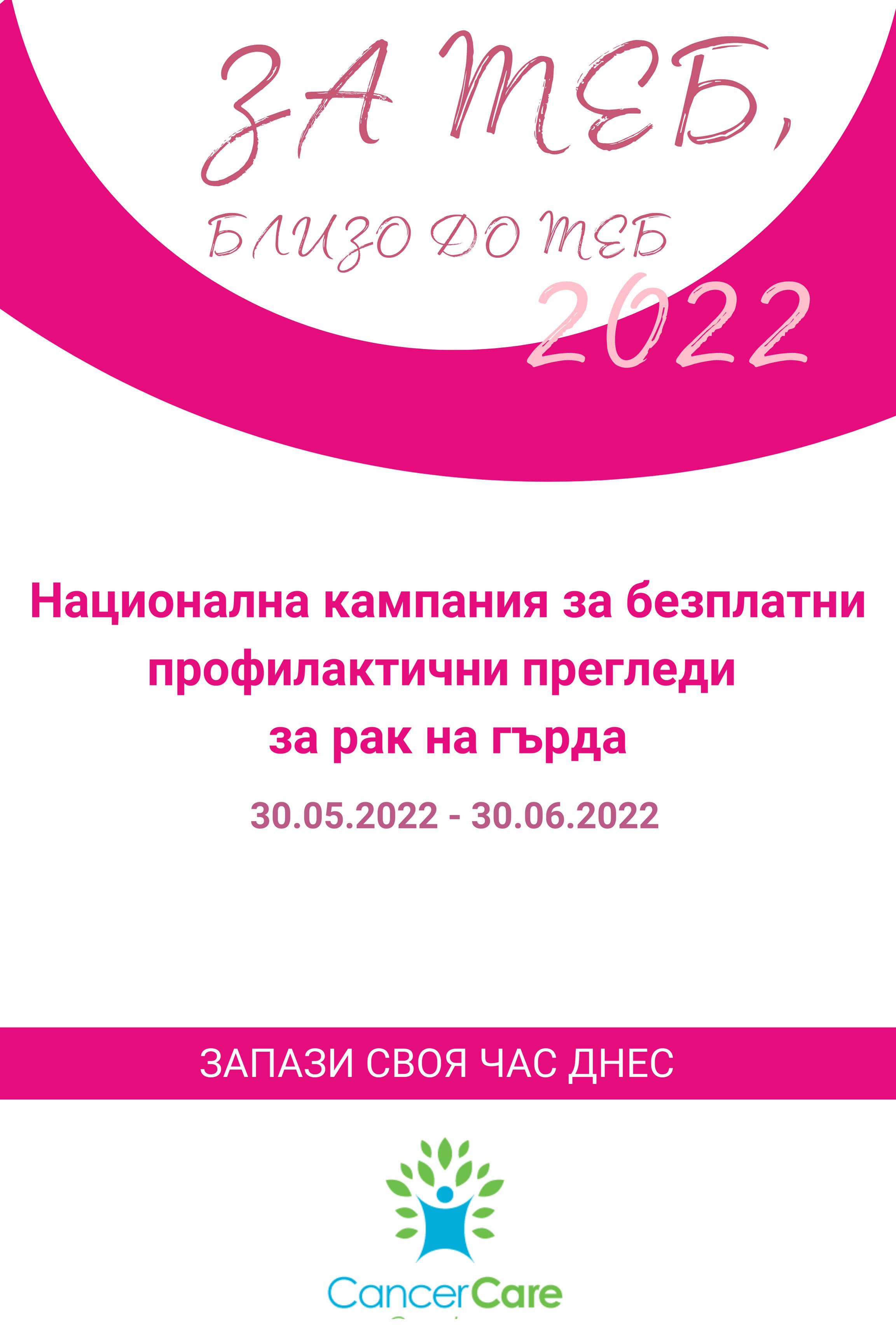 Национална кампания безплатни профилактични прегледи за рак на гърда