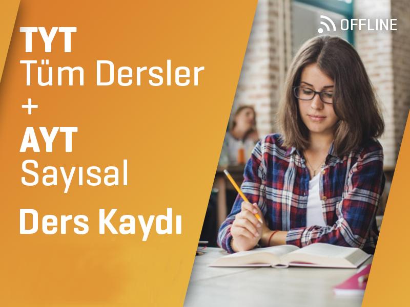 TYT Tüm Dersler + AYT Sayısal Offline Kayıtları - 1 Yıllık