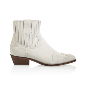 Witte suede boots Austin