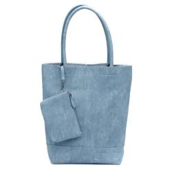 Jeansblauwe bag Natural Linnen