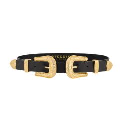 Zwart met gouden riem Bia 2-Buckle