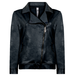 Donkerblauwe jacket Biker