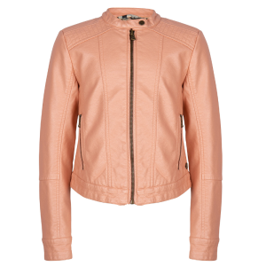 Roze leren jas Fake Leather