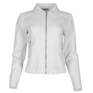 Witte biker jacket Sacha