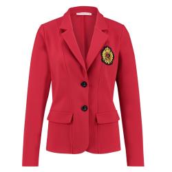 Rode badge blazer Bright