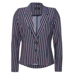 Blauw gestreepte blazer Nanni-Ja - XL
