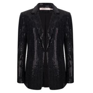 Zwarte blazer sequins 17700