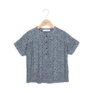 Blauwe botanic blouse Bo