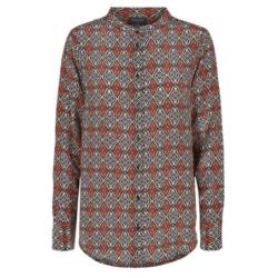 Bruin geprinte blouse Ari - S
