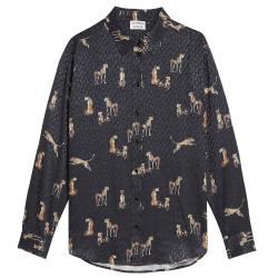Zwarte blouse Jumping Cheetah