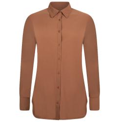 Cognac travel blouse Linda