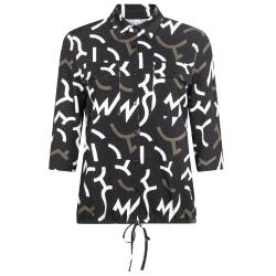 Zwarte printed blouse Pia
