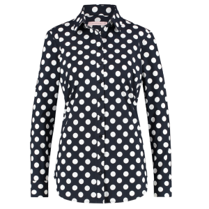 Donkerblauw geprinte blouse Poppy Dot