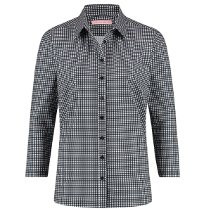 Wit geprint shirt Poppy Small Check