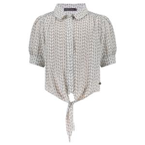 Zwart met witte blouse Sanne