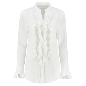 Witte blouse Volant
